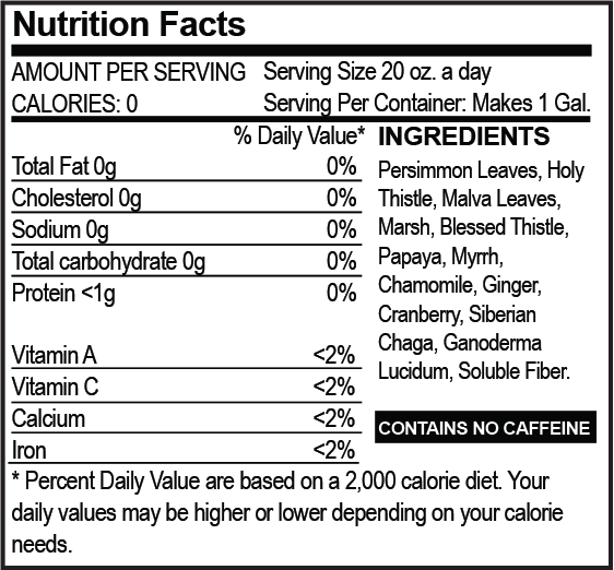 TeDivina® nutrition facts